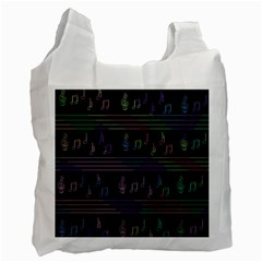 Music Pattern Recycle Bag (one Side)