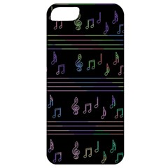 Music Pattern Apple Iphone 5 Classic Hardshell Case by Valentinaart