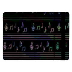 Music Pattern Samsung Galaxy Tab Pro 12 2  Flip Case by Valentinaart