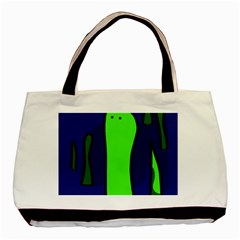 Green Snakes Basic Tote Bag (two Sides) by Valentinaart