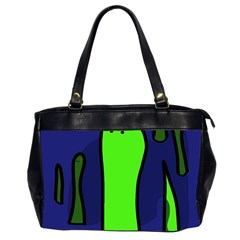 Green Snakes Office Handbags (2 Sides)  by Valentinaart