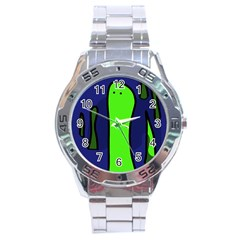 Green Snakes Stainless Steel Analogue Watch by Valentinaart