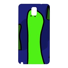 Green Snakes Samsung Galaxy Note 3 N9005 Hardshell Back Case by Valentinaart