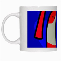 Colorful Snakes White Mugs by Valentinaart