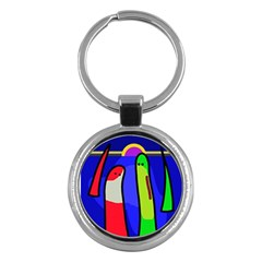 Colorful Snakes Key Chains (round)  by Valentinaart