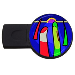 Colorful Snakes Usb Flash Drive Round (2 Gb)  by Valentinaart