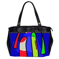 Colorful Snakes Office Handbags (2 Sides)  by Valentinaart