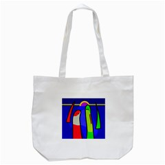 Colorful Snakes Tote Bag (white) by Valentinaart
