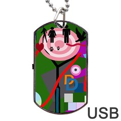 Party Dog Tag Usb Flash (one Side) by Valentinaart