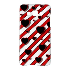 Black And Red Harts Samsung Galaxy A5 Hardshell Case  by Valentinaart