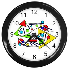 Catch Me Wall Clocks (black) by Valentinaart
