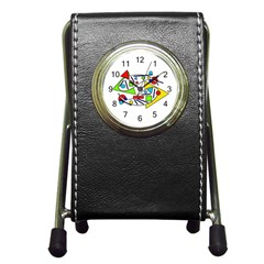 Catch Me Pen Holder Desk Clocks by Valentinaart