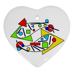 Catch Me Heart Ornament (2 Sides) by Valentinaart