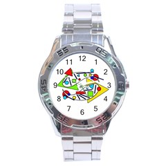 Catch Me Stainless Steel Analogue Watch by Valentinaart