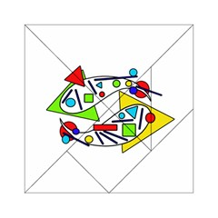 Catch Me Acrylic Tangram Puzzle (6  X 6 ) by Valentinaart