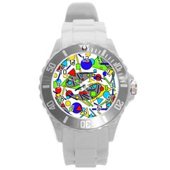 Find It Round Plastic Sport Watch (l) by Valentinaart