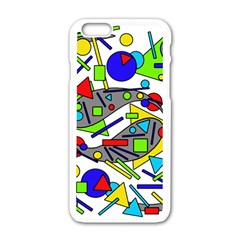 Find It Apple Iphone 6/6s White Enamel Case by Valentinaart