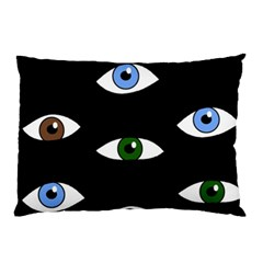 Look At Me Pillow Case by Valentinaart