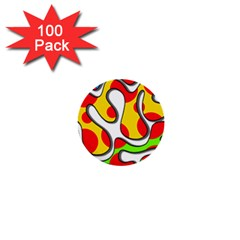 Colorful Graffiti 1  Mini Buttons (100 Pack)  by Valentinaart