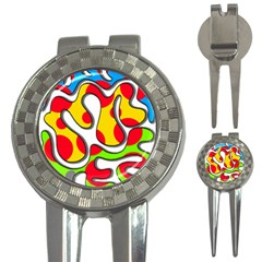 Colorful Graffiti 3 In 1 Golf Divots by Valentinaart