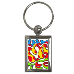 Colorful Graffiti Key Chains (rectangle)  by Valentinaart