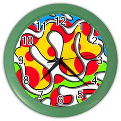 Colorful Graffiti Color Wall Clocks by Valentinaart