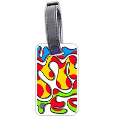 Colorful Graffiti Luggage Tags (one Side)