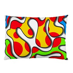 Colorful Graffiti Pillow Case (two Sides) by Valentinaart