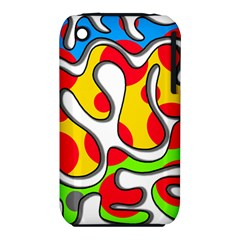 Colorful Graffiti Apple Iphone 3g/3gs Hardshell Case (pc+silicone) by Valentinaart