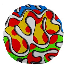 Colorful Graffiti Large 18  Premium Round Cushions by Valentinaart