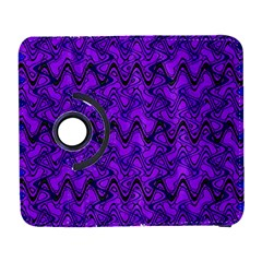 Purple Wavey Squiggles Samsung Galaxy S  Iii Flip 360 Case by BrightVibesDesign