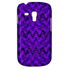 Purple Wavey Squiggles Samsung Galaxy S3 Mini I8190 Hardshell Case by BrightVibesDesign