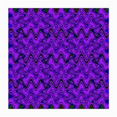 Purple Wavey Squiggles Medium Glasses Cloth (2 Side) by BrightVibesDesign