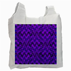Purple Wavey Squiggles Recycle Bag (one Side) by BrightVibesDesign
