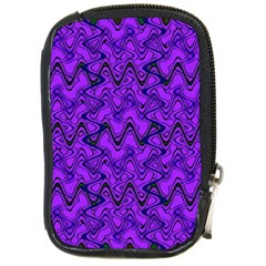 Purple Wavey Squiggles Compact Camera Cases by BrightVibesDesign