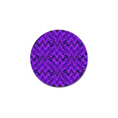 Purple Wavey Squiggles Golf Ball Marker (4 Pack) by BrightVibesDesign