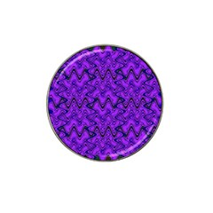 Purple Wavey Squiggles Hat Clip Ball Marker by BrightVibesDesign