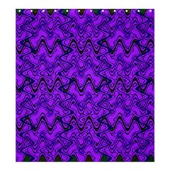Purple Wavey Squiggles Shower Curtain 66  X 72  (large)  by BrightVibesDesign