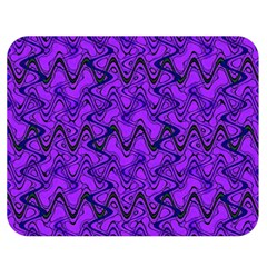 Purple Wavey Squiggles Double Sided Flano Blanket (medium)  by BrightVibesDesign
