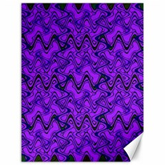 Purple Wavey Squiggles Canvas 12  X 16   by BrightVibesDesign