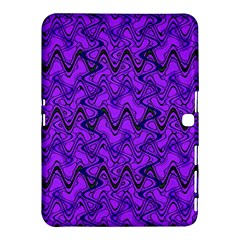 Purple Wavey Squiggles Samsung Galaxy Tab 4 (10 1 ) Hardshell Case  by BrightVibesDesign