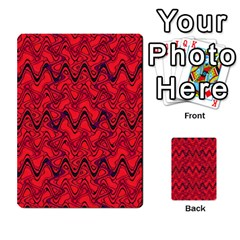 Red Wavey Squiggles Multi Purpose Cards (rectangle)  by BrightVibesDesign