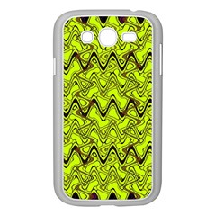 Yellow Wavey Squiggles Samsung Galaxy Grand Duos I9082 Case (white) by BrightVibesDesign