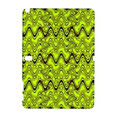 Yellow Wavey Squiggles Samsung Galaxy Note 10 1 (p600) Hardshell Case by BrightVibesDesign