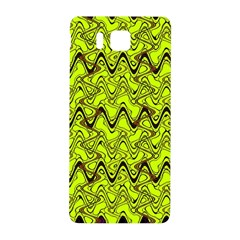 Yellow Wavey Squiggles Samsung Galaxy Alpha Hardshell Back Case by BrightVibesDesign