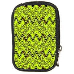 Yellow Wavey Squiggles Compact Camera Cases by BrightVibesDesign