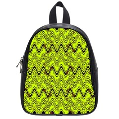 Yellow Wavey Squiggles School Bags (small)  by BrightVibesDesign