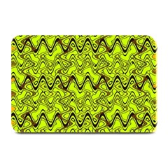 Yellow Wavey Squiggles Plate Mats by BrightVibesDesign