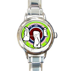 Disco Round Italian Charm Watch