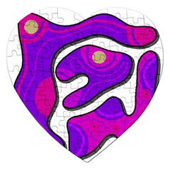 Purple Graffiti Jigsaw Puzzle (heart) by Valentinaart